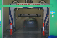 Car using water wizard automatic wash