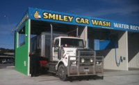 Truck using the self serve car wash