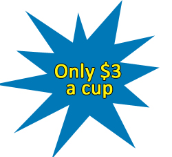 Only $3 a cup of coffee at Smiley Coffee Meningie